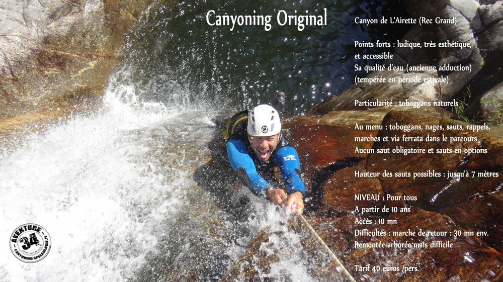 canyoning original airette